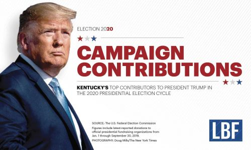Here's Trump's top 25 donors in Kentucky for the 2020 presidential election