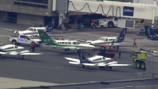 Airplane's wing hits nose of another aircraft at Logan Airport