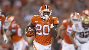 Clemson RB Pace in COVID-19 protocol, out for Florida State
