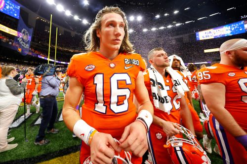 Clemson's Trevor Lawrence goes quietly in first college loss