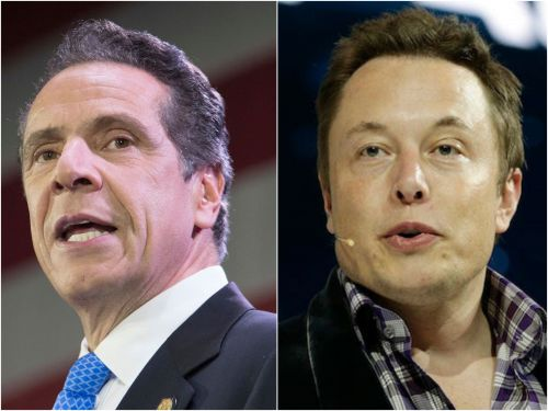 New York Gov. Andrew Cuomo says the ventilators Elon Musk's Tesla factories are making won't be done in time to help during the apex of the coronavirus outbreak