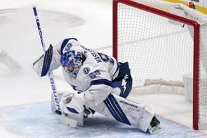 Vasilevskiy 3rd shutout in row as Lightning top Stars 2-0