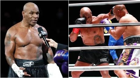 'He was ROBBED': Furious boxing fans claim Mike Tyson was deprived of victory in comeback fight with fellow legend Jones Jr