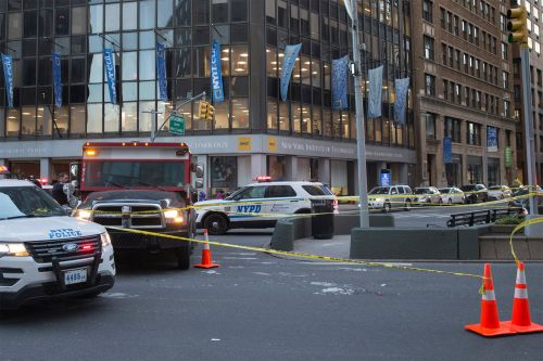 Elderly woman in critical condition after being hit by truck near Columbus Circle