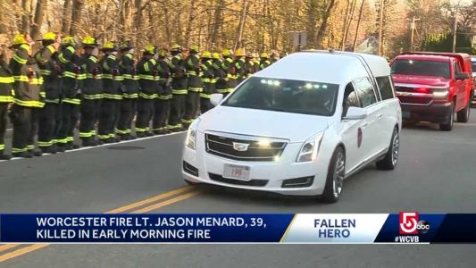 Procession brings Lt. Menard home to Worcester