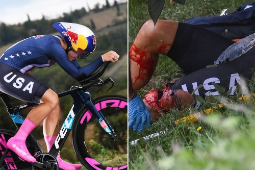 US Olympian Chloe Dygert crashes over guardrail in cycling accident