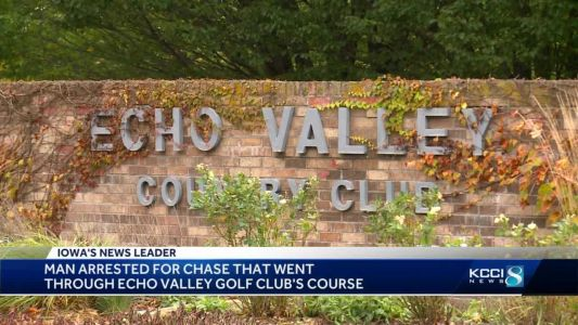 Des Moines man leads police on chase through golf course