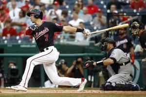 Turner hits for 2nd cycle, Nationals rout Rockies 11-1