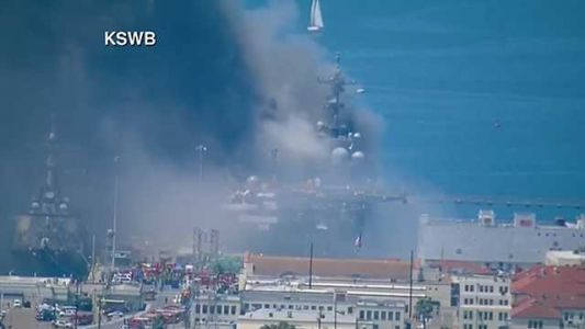 1 injured in fire aboard ship at Naval Base San Diego