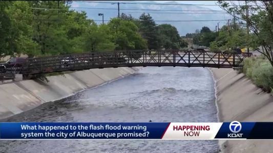 City of ABQ planned to make a flash flood warning system by arroyos, years later no system installed