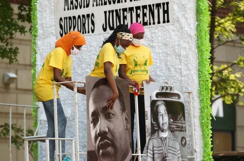 Juneteenth celebrated across the country with parades, festivals, yoga