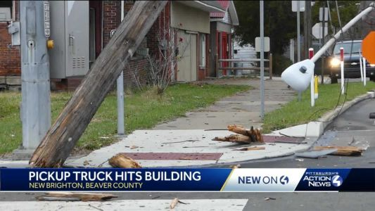 Pickup truck crashes into Beaver County building