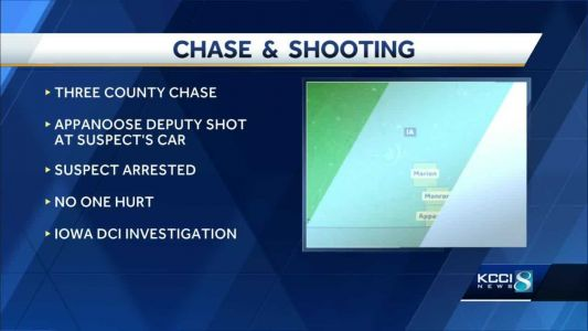 Iowa authorities identify suspect in 3-county chase
