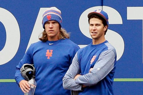 Noah Syndergaard reacts to Jacob deGrom's Mets megadeal