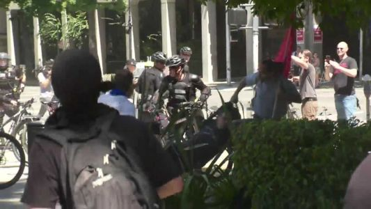 3 in melee with white supremacists at California Capitol plead to lesser charges