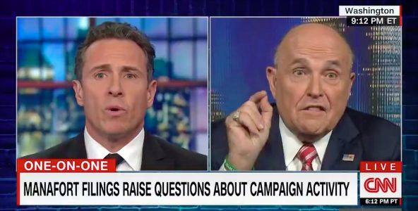 Rudy Giuliani leaves open the possibility there may have been collusion between the Trump campaign and Russia
