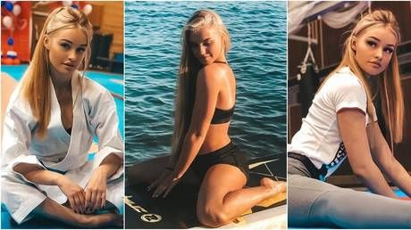 'How many times did I fall off?' Russian 'karate Barbie' makes waves with paddleboard pics at sun-soaked training camp