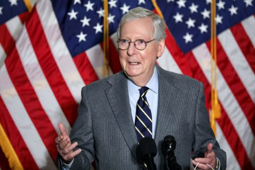 Mitch McConnell laughs off Trump taking credit for his reelection