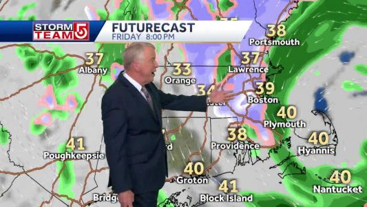 Video: Rain/snow to linger into early Saturday