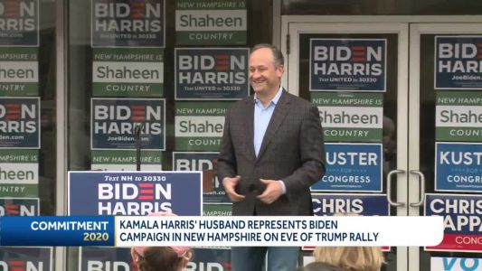 Today's headlines: Harris' husband campaigns in NH; 129 new COVID-19 cases reported
