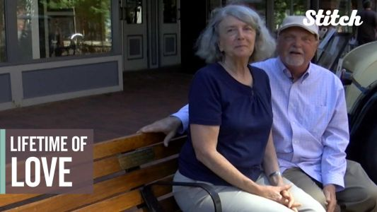 Man gifts wife personalized public bench as public display of affection for anniversary