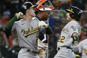 Laureano's 2-run shot sends A's to 7-3 win over Astros