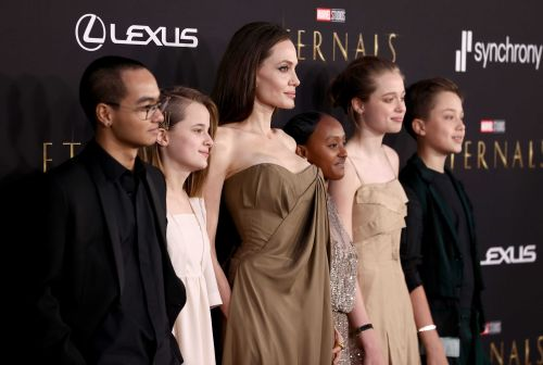 Angelina Jolie's kids wore her old dresses and vintage to 'Eternals' premiere, including her Oscars gown