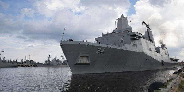 A hidden camera was found in a women's bathroom on a warship, and the US Navy is looking for answers