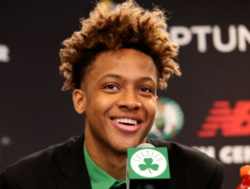 Celtics pick Romeo Langford begins trek back from thumb surgery