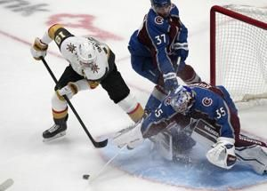 Short-handed goal by Smith helps lift Knights past Avs 3-1