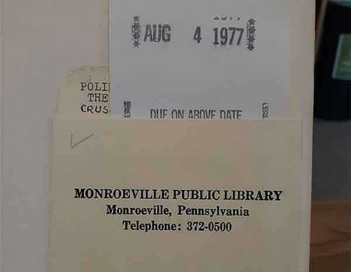 Overdue library book returned to Monroeville Library after 43 years