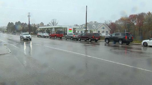 Long lines continue at gas stations on South Shore in towns hardest hit by nor'easter