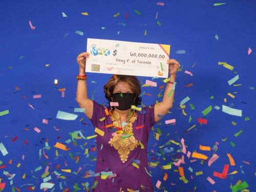 A woman who won a $60 million lottery said she got the winning numbers from her husband's dream