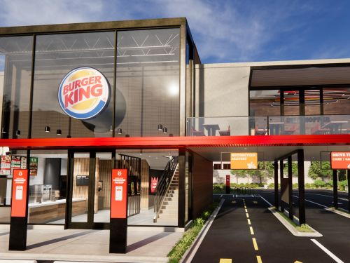 Burger King's new 2021 restaurants will have food lockers, conveyor belts that deliver Whoppers to your car, and modern, minimalist dining areas. Take a look inside