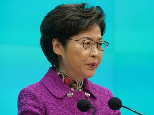 Hong Kong's leader is being paid in cash due to US sanctions. Carrie Lam earns $56,000 a month and says money is now piling up at her house