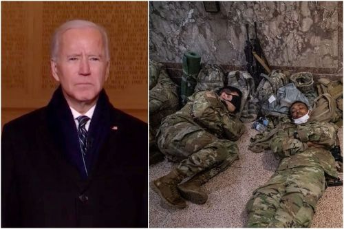 Biden apologizes to National Guard chief after 5,000 soldiers had to reportedly sleep in a DC parking garage with only one bathroom