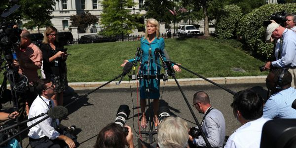 Kellyanne Conway asked a reporter 'what's your ethnicity' in response to a question on Trump's racist tweets