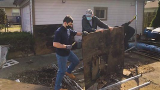 Former high school teacher building wheelchair ramps for people in need