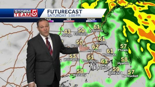 Heavy rain to taper off, strong winds will 'relax'