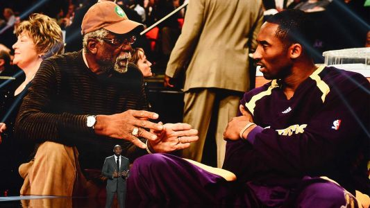 Celtics legend Bill Russell wears Lakers jersey in honor of Kobe Bryant