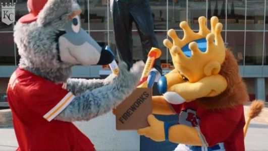 Sluggerrr lends KC Wolf fireworks for AFC championship game touchdowns