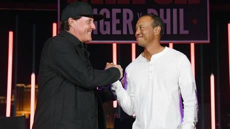 Time for a rematch? Golf ace Phil Mickelson says he's 'working on' potential head-to-head rematch with Tiger Woods