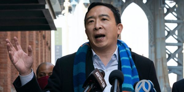 Republicans like Ted Cruz and Stephen Miller are cheering on Andrew Yang after he posted a pro-Israel tweet amid tensions with Palestinians