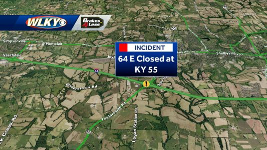 TRAFFIC: I-64 East closure in Shelby County this morning