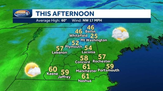 Cool day with few shower chances