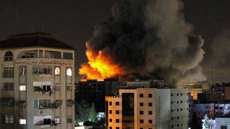 ANOTHER Gaza tower reportedly goes down, Israeli Iron Dome intercepts dozens of missiles in night of tit-for-tat strikes