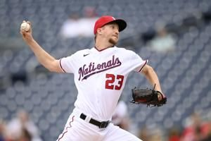 Fedde back from COVID-19 list, leads Nats past SF in opener