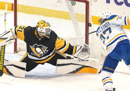 Maxime Lagace shuts out Buffalo, as the Penguins clinch home ice in the first round of the playoffs