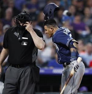Padres' Machado denies bumping umpire, to appeal 1-game ban