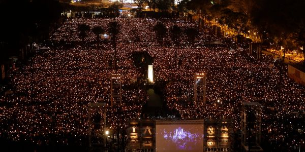 Hong Kong banned the Tiananmen Square vigil for the first time ever. Organizers say the government is exploiting the coronavirus to silence pro-democracy protesters